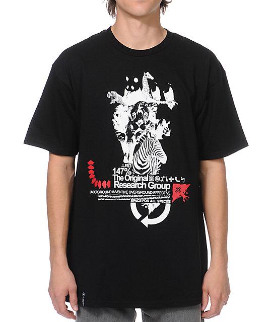 LRG Animal Stacks Black T-Shirt