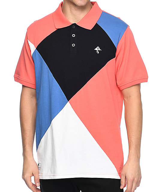lrg argyle dimensions salmon polo shirt zumiez. Black Bedroom Furniture Sets. Home Design Ideas