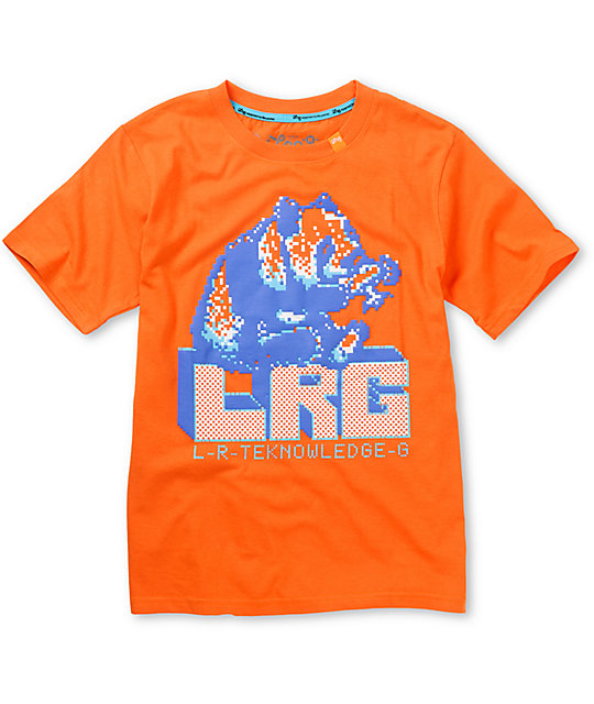 LRG Boys 8 Bit Hawaii Orange T-Shirt