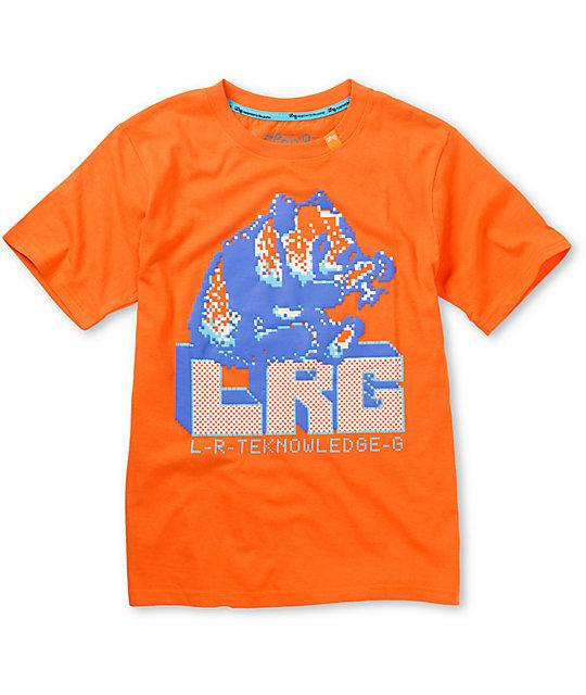 LRG Boys 8 Bit Hawaii Orange T-Shirt