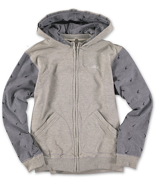 LRG Boys Burch Chambray Zip Up Hoodie