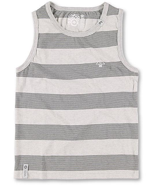 LRG Boys CC Striped Grey Tank Top