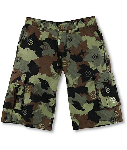 LRG Boys Camo Ripstop Cargo Shorts