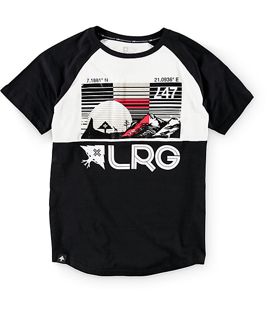 LRG Boys Coordinate Black & White T-Shirt