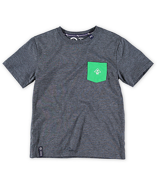 LRG Boys Core Charcoal Grey Pocket T-Shirt