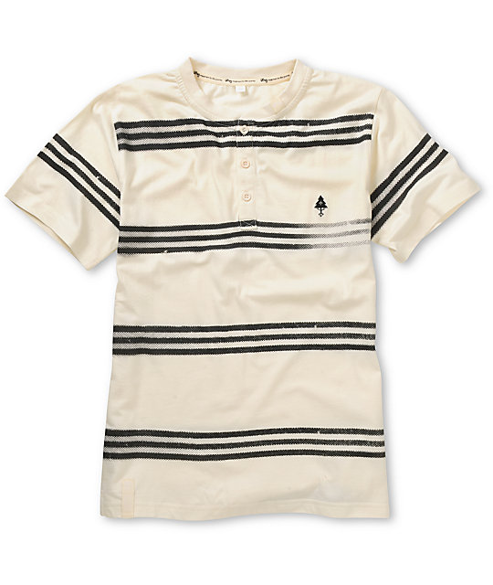LRG Boys Freak A Streak Natural Henley T-Shirt
