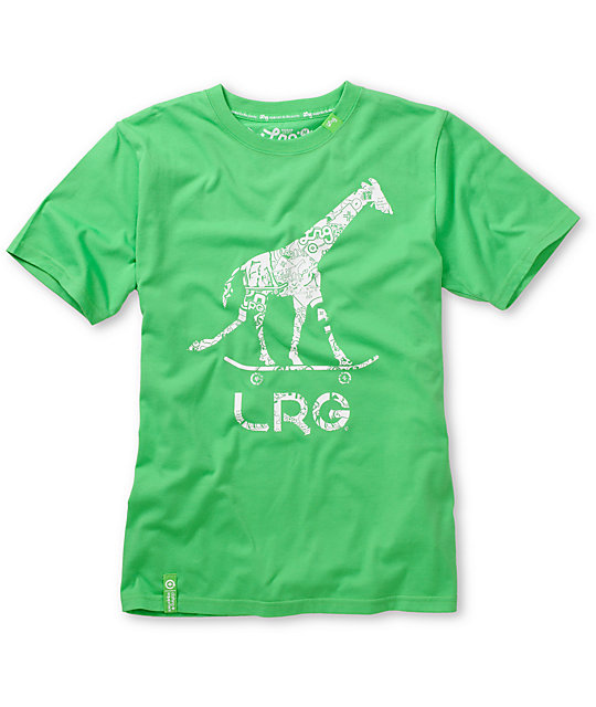 LRG Boys Giraffe Green T-Shirt
