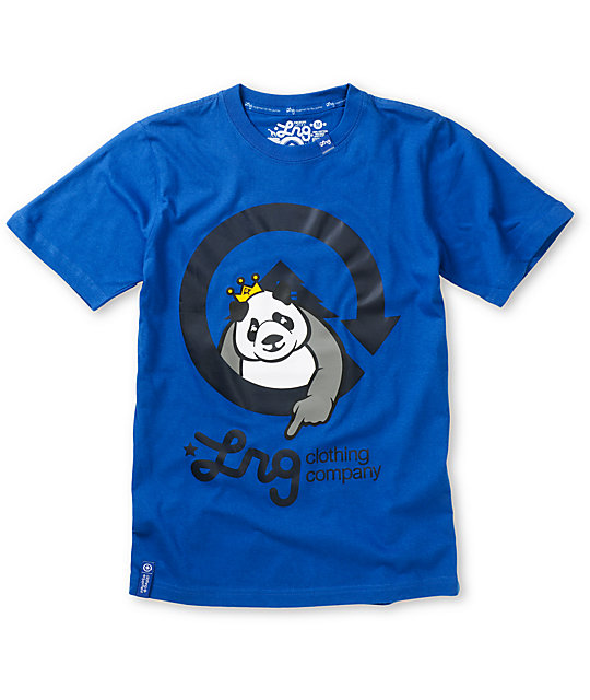 LRG Boys Homeboy Panda Blue T-Shirt