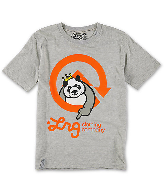 LRG Boys Homeboy Panda Grey T-Shirt
