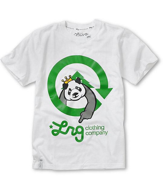 LRG Boys Homeboy Panda White T-Shirt