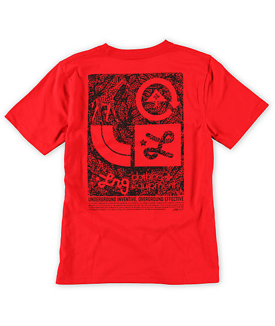 LRG Boys Inventive Red T-Shirt