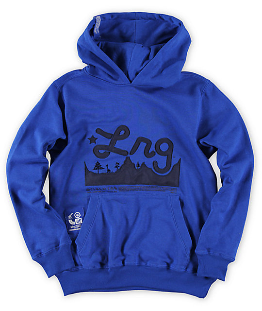 LRG Boys Mountain Range Blue Pullover Hoodie