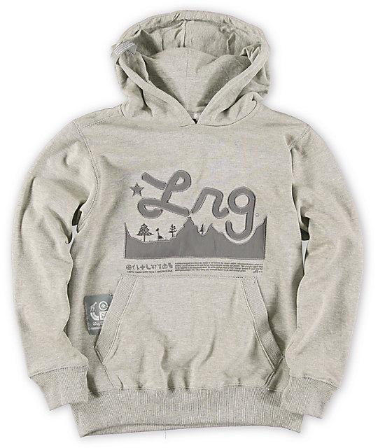 LRG Boys Mountain Range Grey Pullover Hoodie