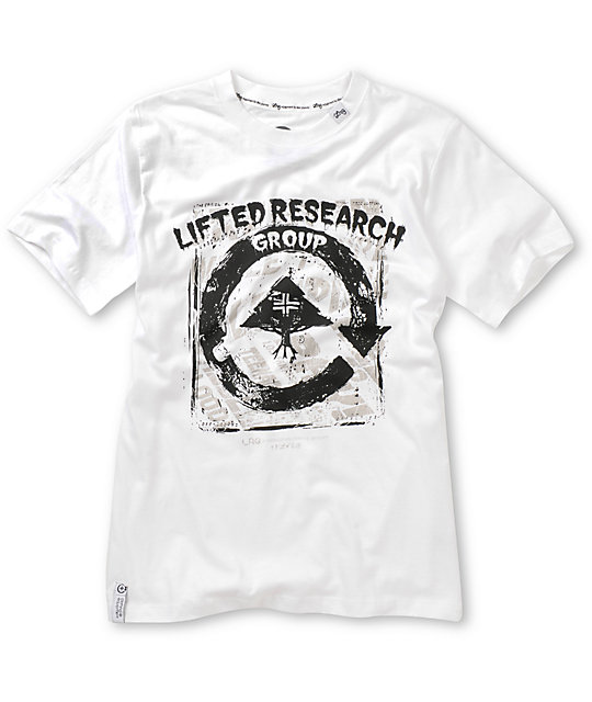 LRG Boys Scratch N Stained White T-Shirt