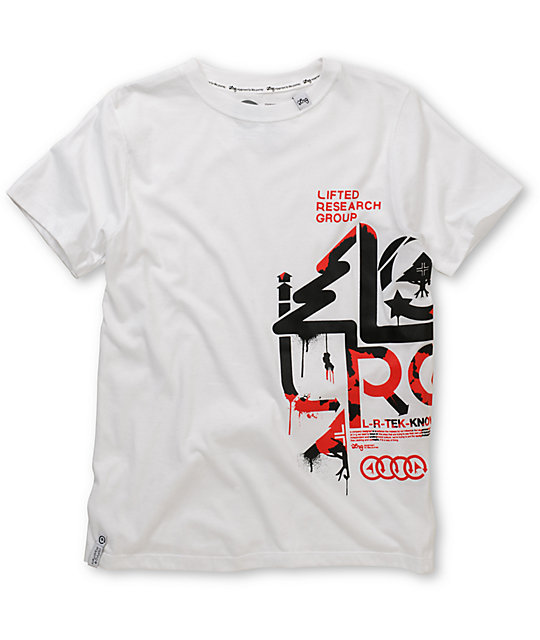 LRG Boys Stencil White T-Shirt