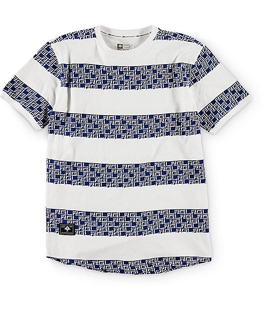 LRG Boys Stripe Monolith White T-Shirt