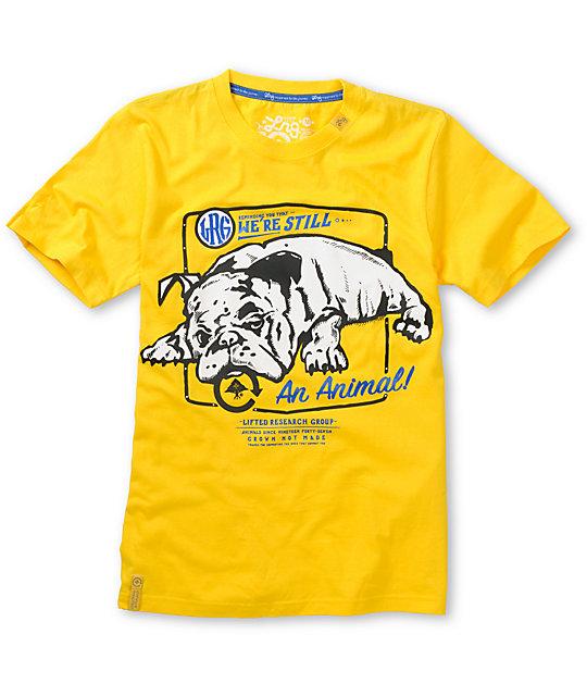 LRG Boys Were Still An Animal Yellow T-Shirt