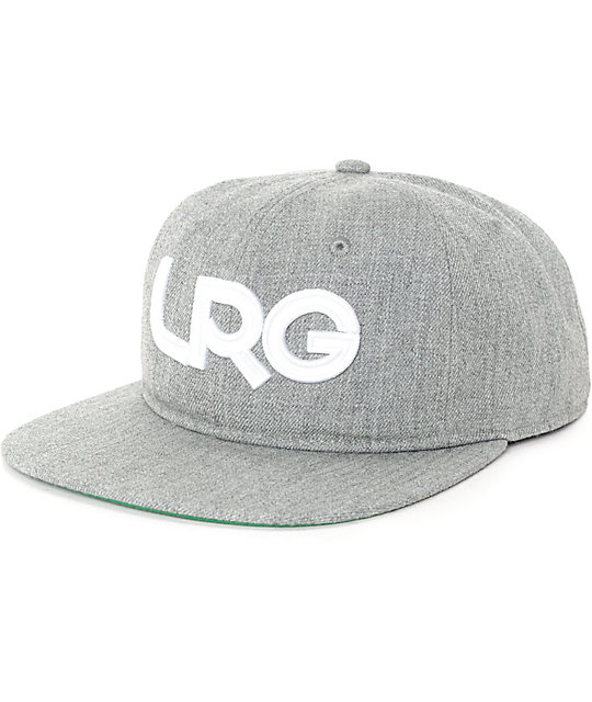 LRG Branded Wool Grey Snapback Hat