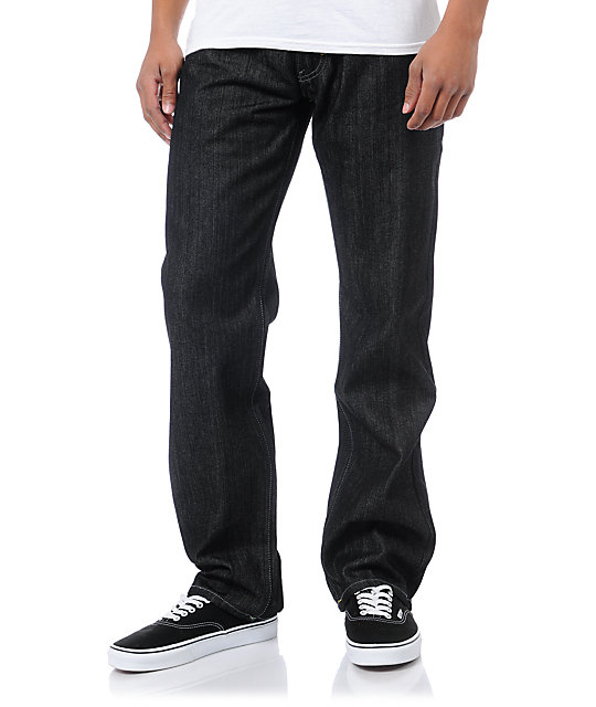 LRG Bushman Raw Black Relaxed Fit Jeans