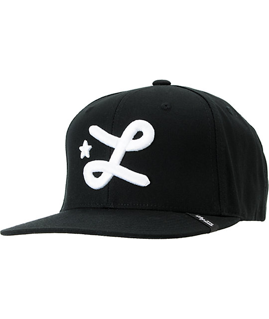 LRG CC Black & White Snapback Hat