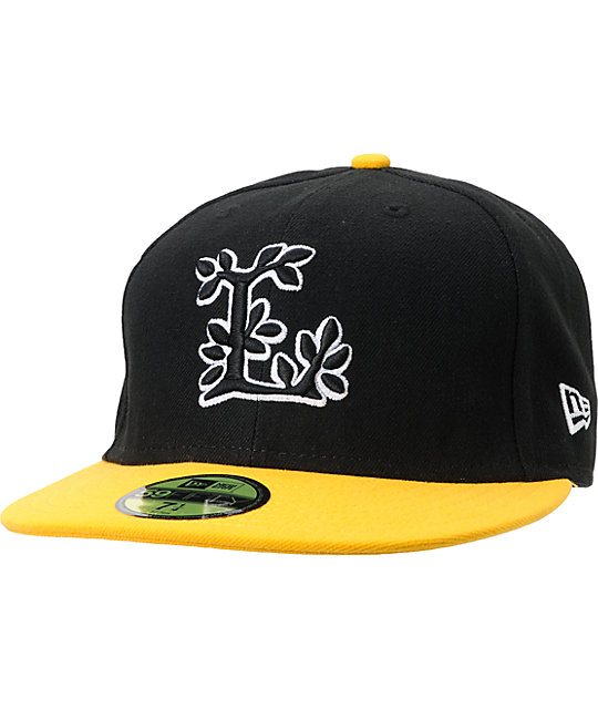 LRG CC Black & Yellow New Era 59Fifity Performance Fitted Hat