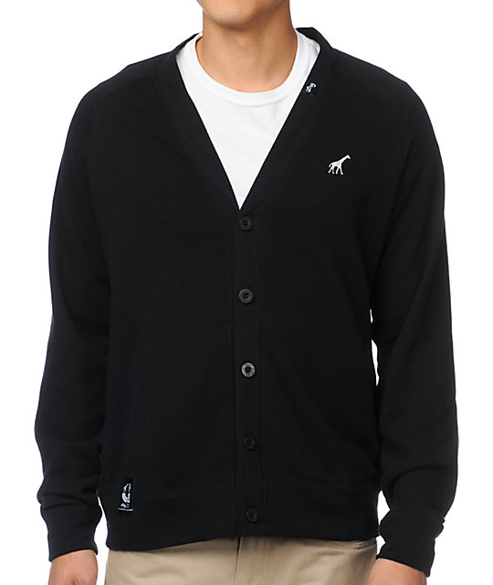 LRG CC Black Cardigan Sweater