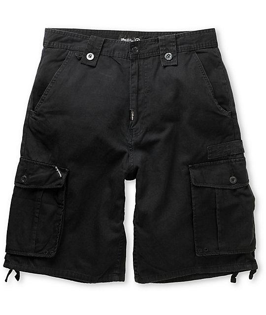 LRG CC Black Cargo Shorts