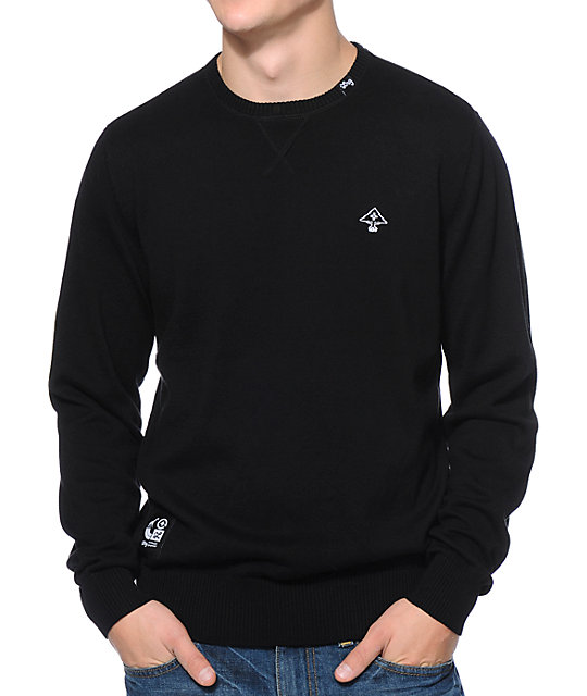 LRG CC Black Crew Neck Sweater | Zumiez