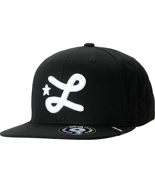 LRG CC Black Snapback Hat