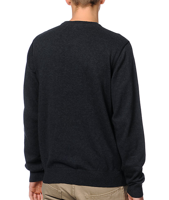 LRG CC Charcoal Grey Crew Neck Sweater