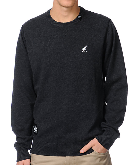 LRG CC Charcoal Grey Crew Neck Sweater