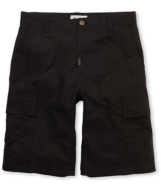 LRG CC Classic Black Ripstop Cargo Shorts