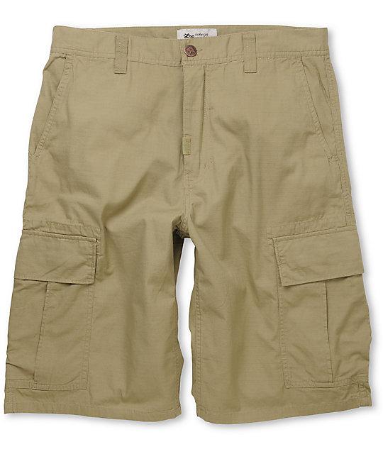LRG CC Classic Dark Khaki Ripstop Cargo Shorts