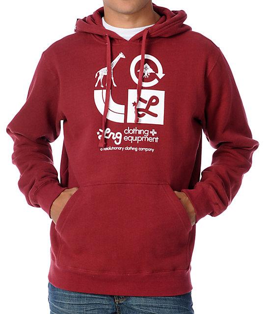 LRG CC Dark Red Pullover Hoodie