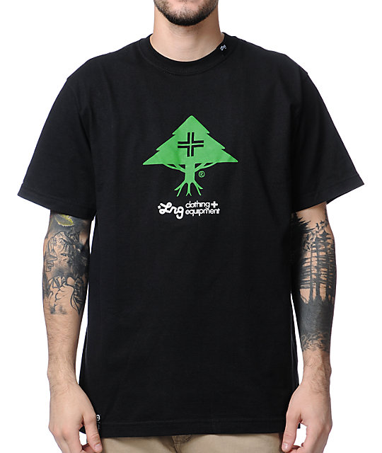 LRG CC Five Black & Green T-Shirt