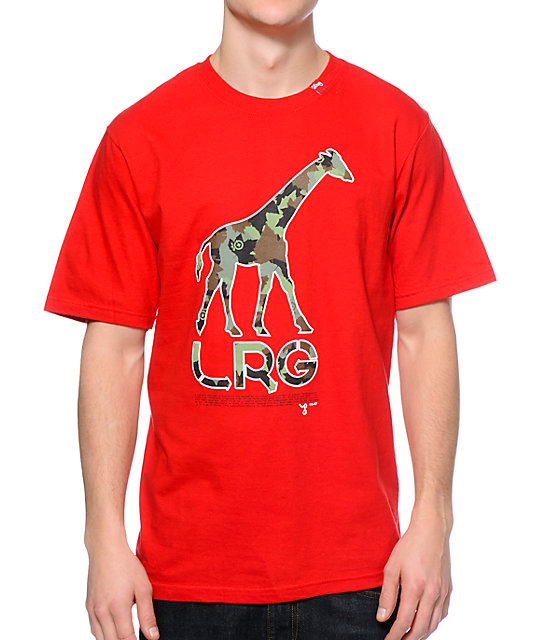 LRG CC Giraffe Red T-Shirt