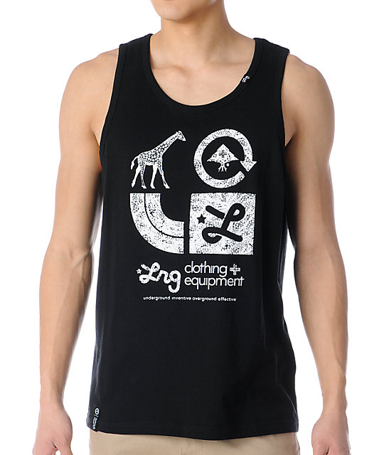 LRG CC Graphic Black Tank Top