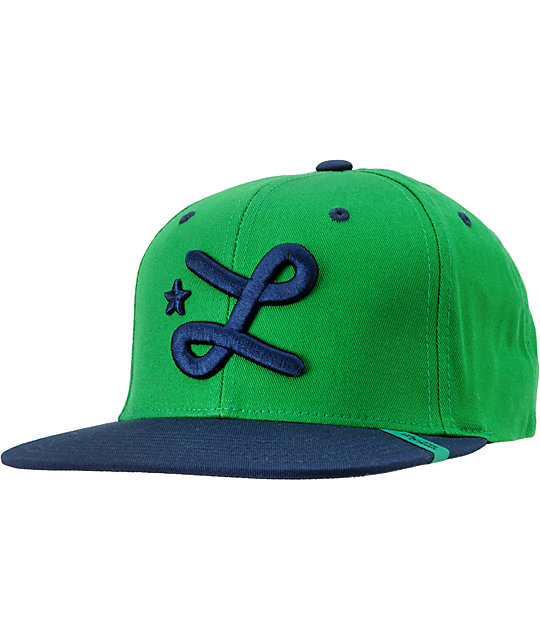 LRG CC Green & Blue Snapback Hat