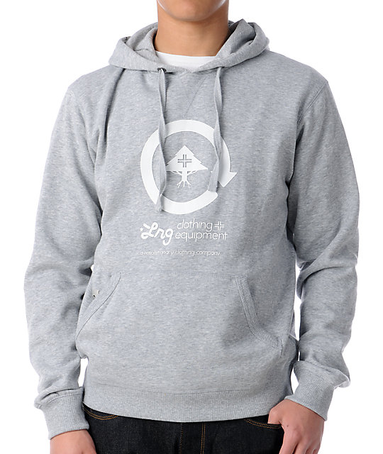 LRG CC Grey Pullover Hoodie