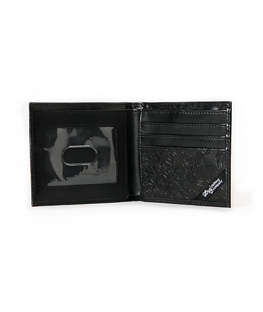 LRG CC Hitched Black Bifold Wallet