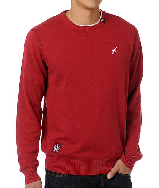LRG CC Maroon Crew Neck Sweater