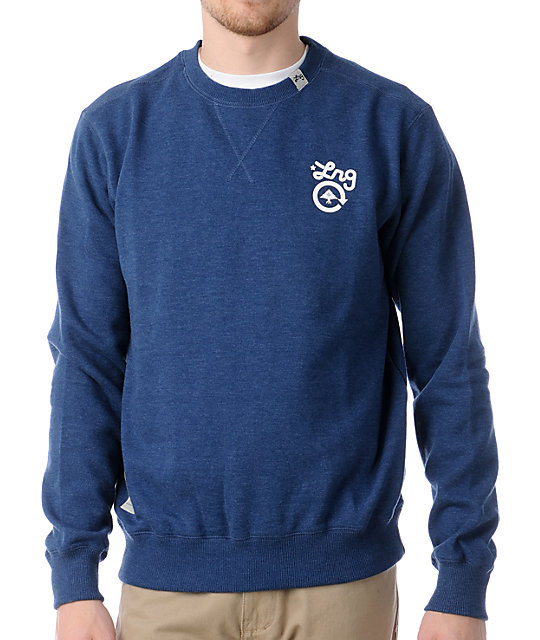 LRG CC Navy Blue Crew Neck Sweatshirt