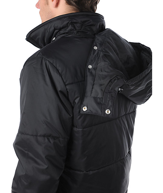 LRG CC Puffy Black Jacket