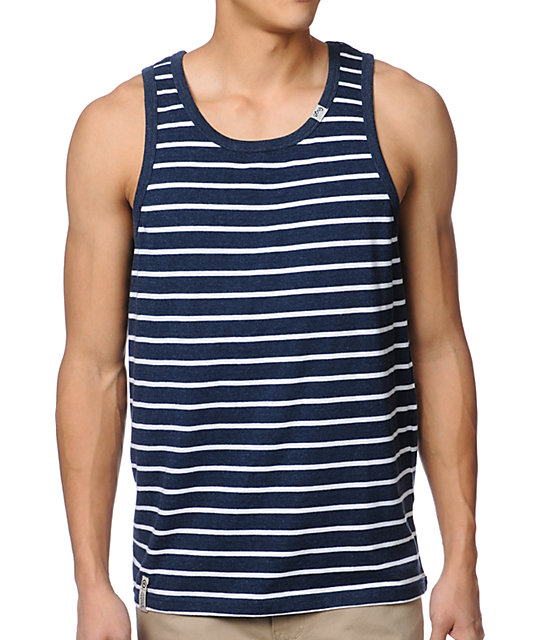 LRG CC Stripe Navy Tank Top