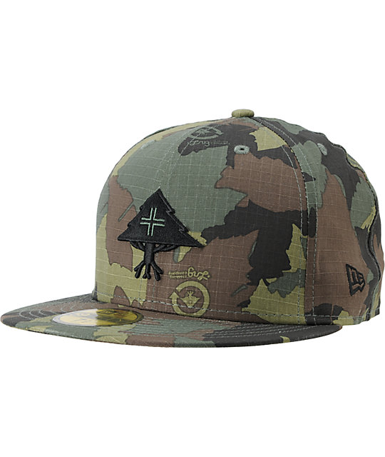 lrg cc tree camo fitted 59fifty new era hat. Black Bedroom Furniture Sets. Home Design Ideas