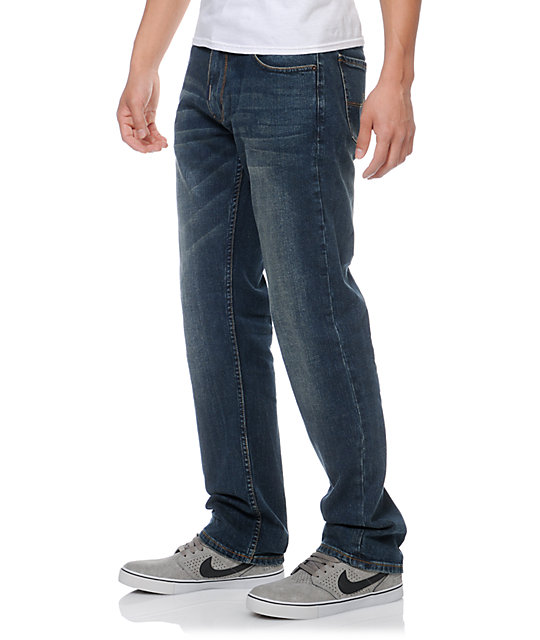 LRG CC True Straight Fit Vintage Blue Jeans
