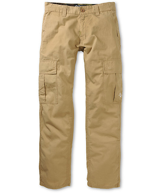 LRG CC True Straight Khaki Cargo Regular Fit Pants