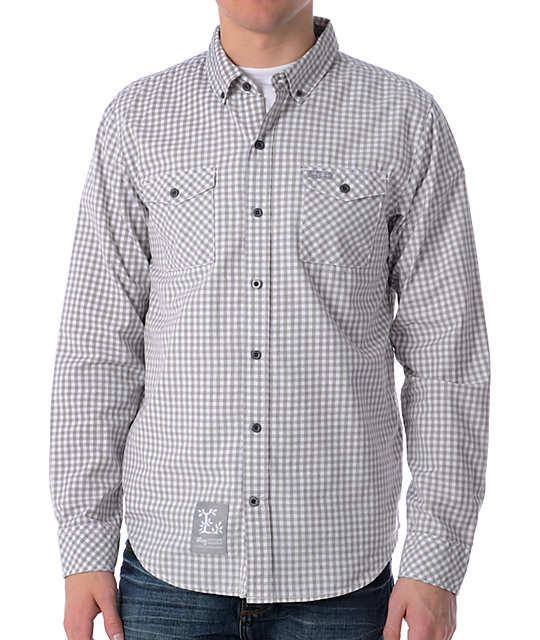 LRG CC White & Grey Woven Shirt