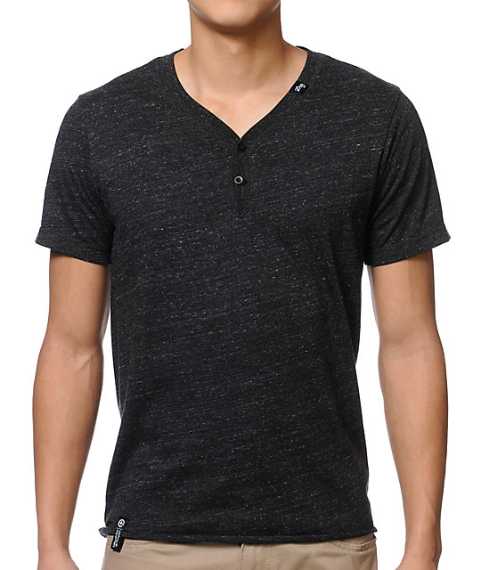 LRG CC Y Neck Henley Shirt