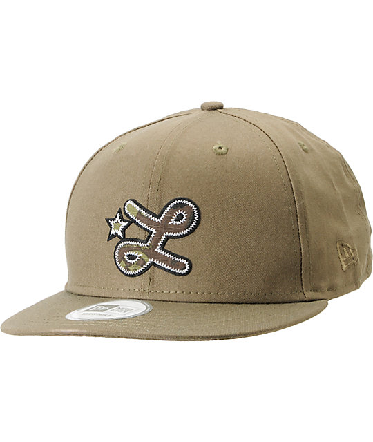 LRG Camo L Army Green Snapback Hat
